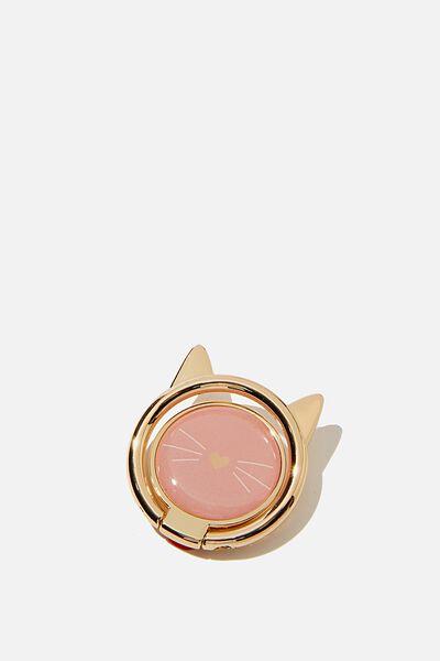 Metal Phone Ring, PINK CAT