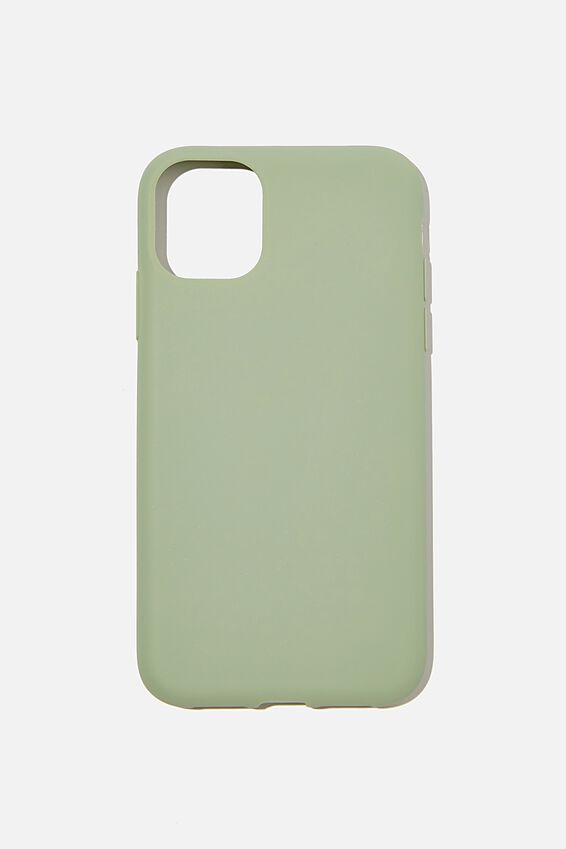 Recycled Phone Case iPhone 11, GUM LEAF