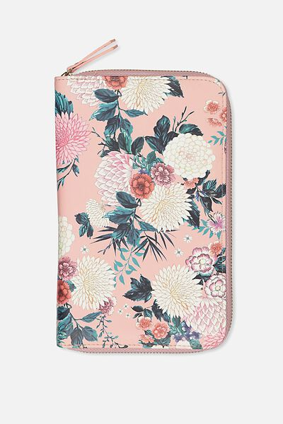 Odyssey Travel Compendium, DUSTY PINK FLORAL