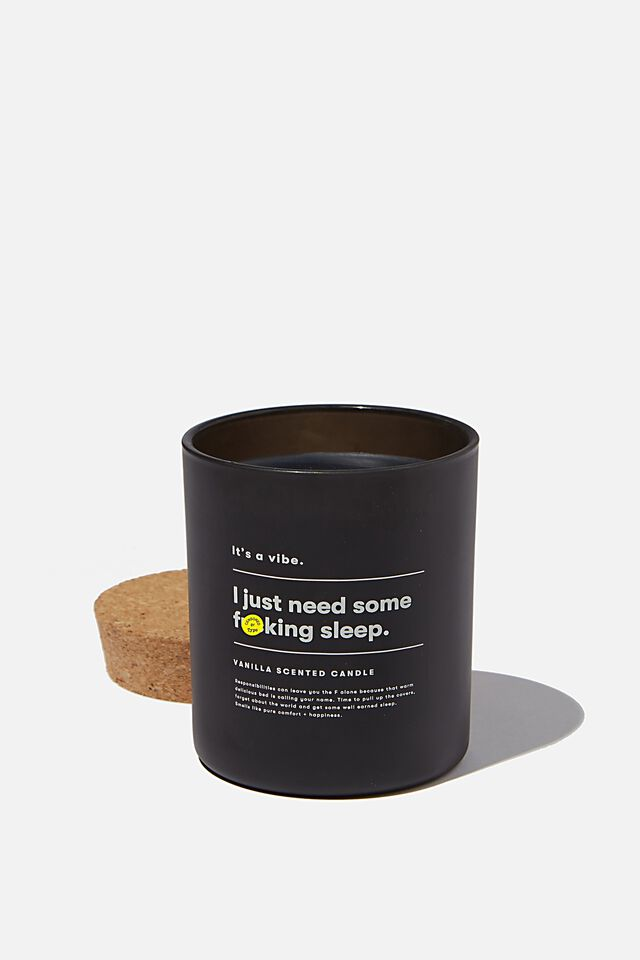 Its A Vibe Candle, BLACK NEED SLEEP!!