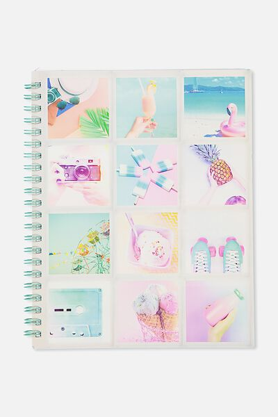 A4 Campus Notebook, PASTEL SUMMER COLLAGE