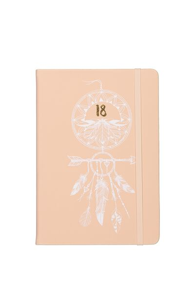 2018 A5 Weekly Buffalo Diary, PINK DREAMCATCHER