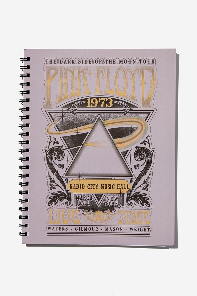 A4 Campus Notebook Recycled, LCN PER PINK FLOYD 1972 POSTER