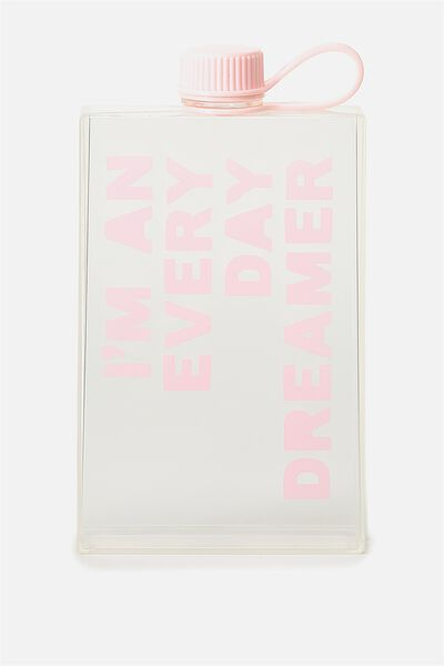 Square Drink Bottle, EVERY DAY DREAMER