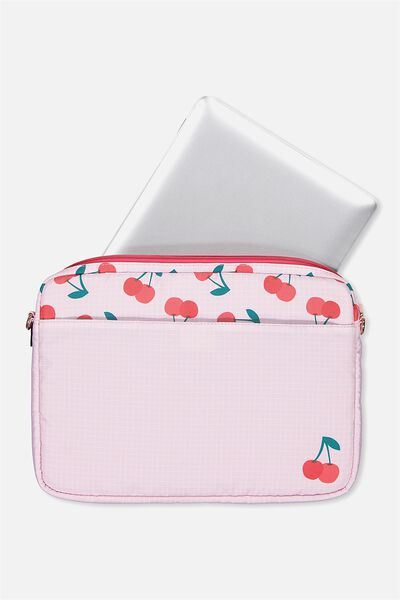Handle It Laptop Case, CHERRY PINK