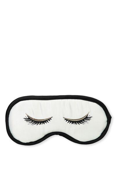 Premium Eye Mask, EMBROIDED EYES