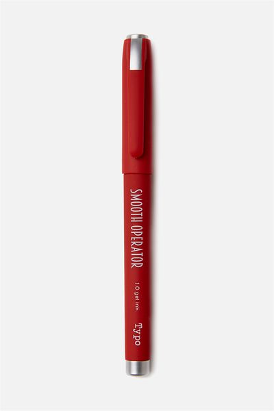 Smooth Operator Gel Pen, RED