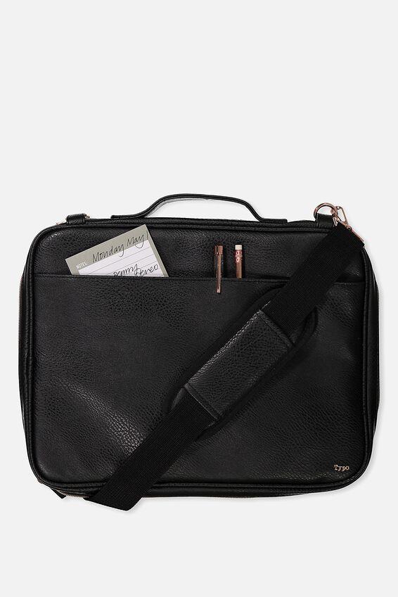 Mobile Laptop Folio, BLACK LUXE