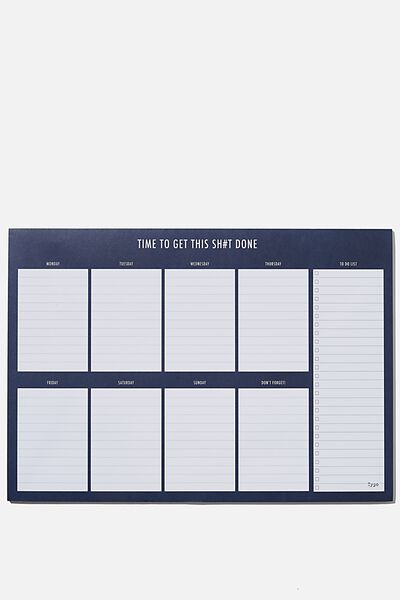 A3 Plan Ahead Planner, BLUE GET IT DONE!
