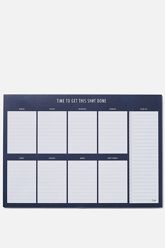 A3 Extra Large Plan Ahead Planner, BLUE GET IT DONE!