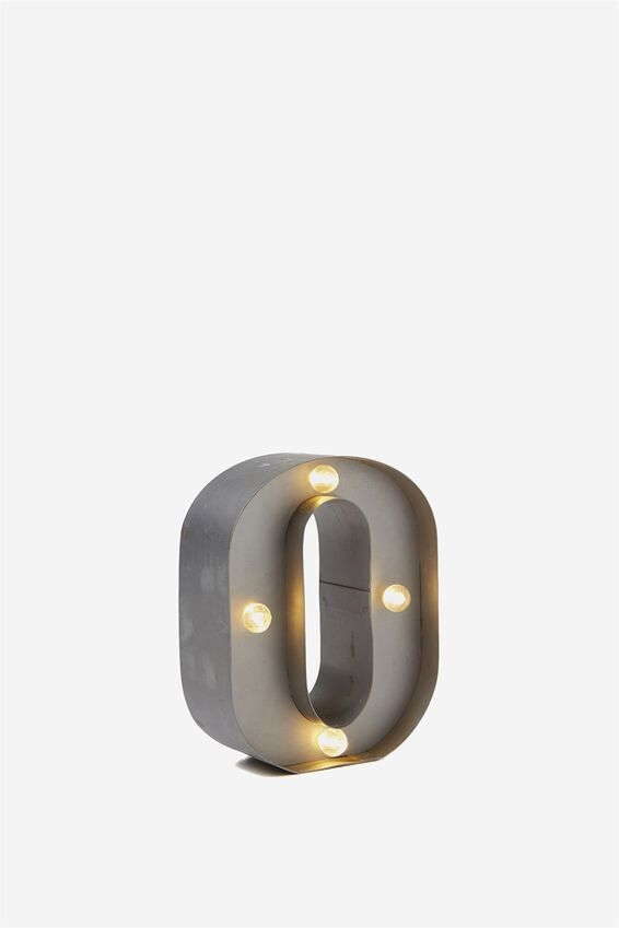 "Mini Marquee Letter Lights 3.9"", SILVER O"