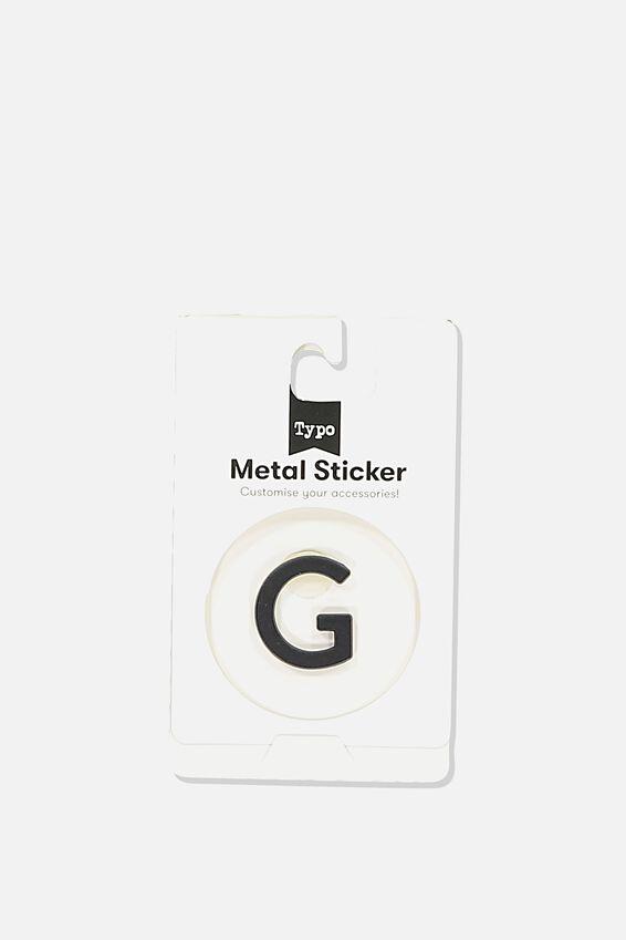 Metal Stickers, BLACK G