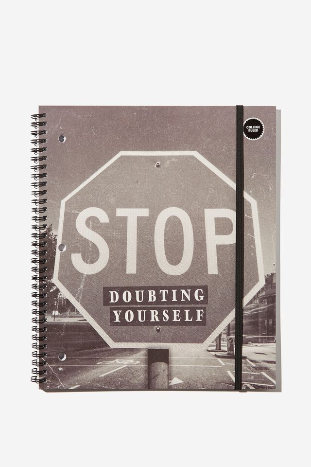 College Ruled Spinout Notebook V, RG USA BOLD QUOTE!!