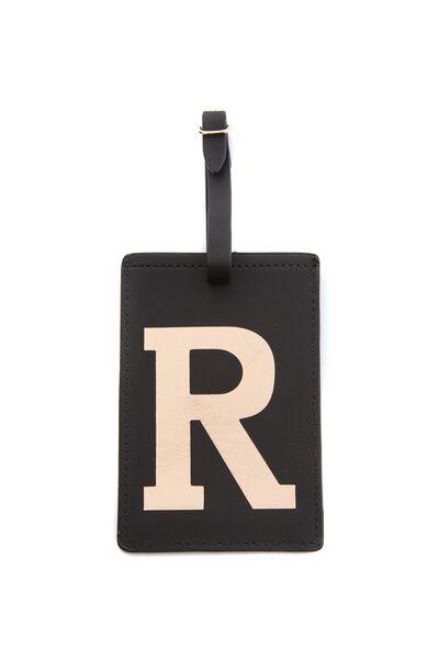 Alphabet Luggage Tag, R
