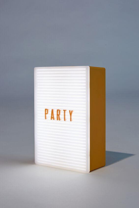 Micro Light Box, MUSTARD & PEACH