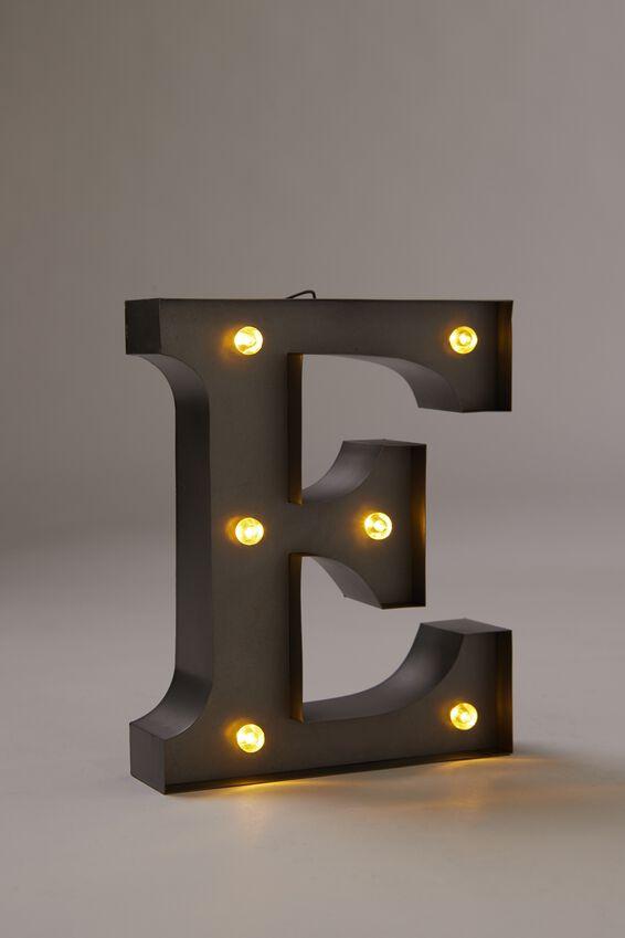 Midi Marquee Letter Lights 6.3inch, SILVER E