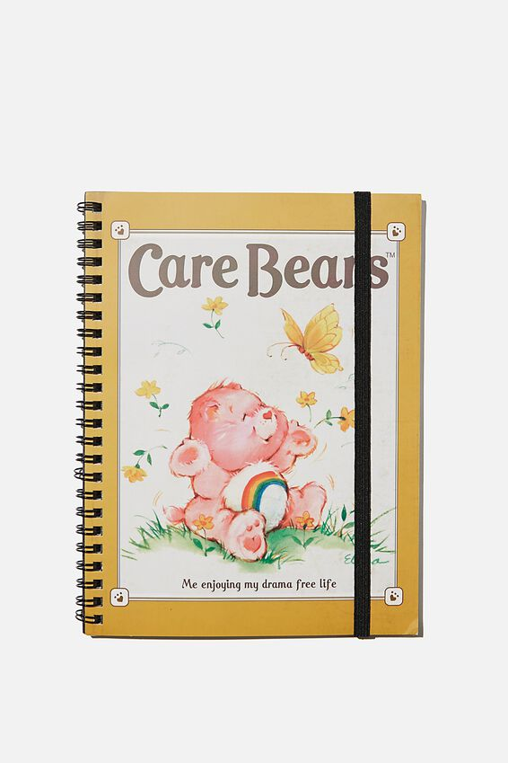 A5 Spinout Notebook Recycled, LCN CLC CARE BEARS DRAMA FREE LIFE