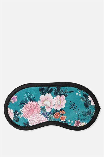 Easy On The Eye Sleep Mask, TEAL FLORAL