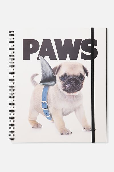 College Ruled Spinout Notebook V, PAWS