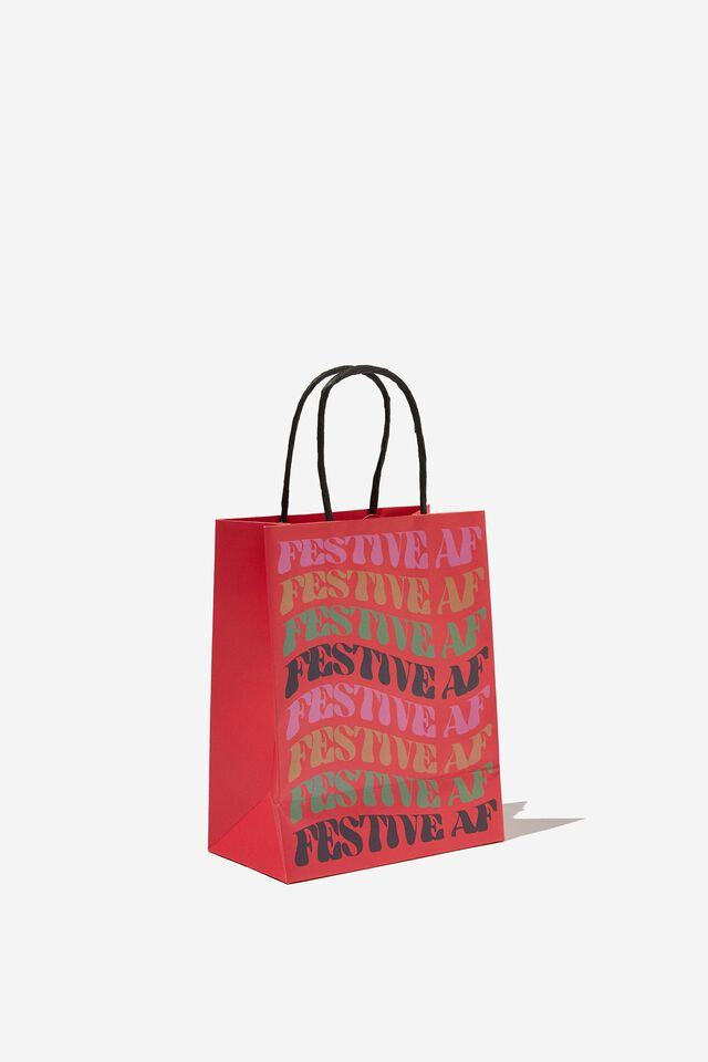 Get Stuffed Gift Bag - Small, FESTIVE AF WARPED!