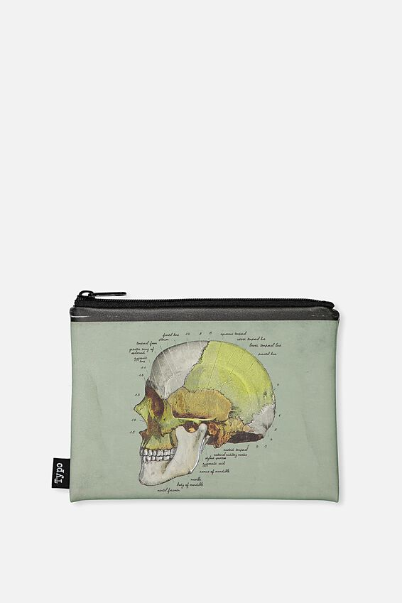Pu Campus Pencil Case, ANATOMY SKULL!
