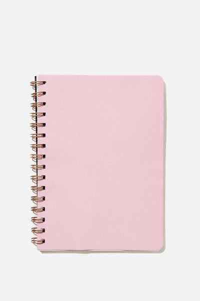 A5 Dot Daily Scribe Notebook, PLASTIC PINK