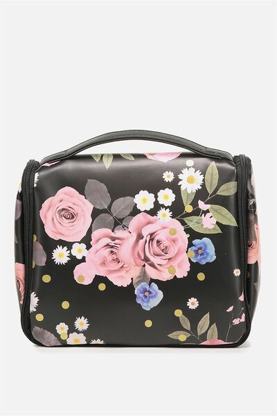 Hanging Cosmetic Bag, POLKA FLORAL
