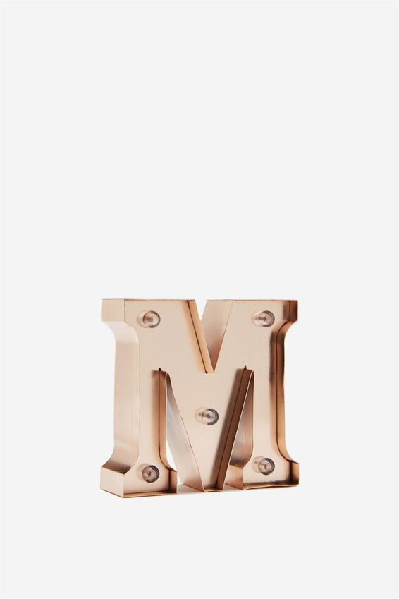 Mini Marquee Letter Lights 10cm, ROSE GOLD M