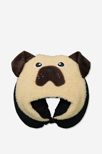 Travel Neck Pillow with Hood, NUEVO PUG