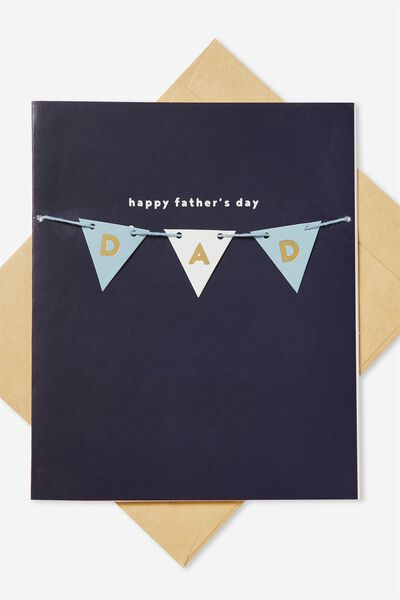 Fathers Day Card, DAD BUNTING