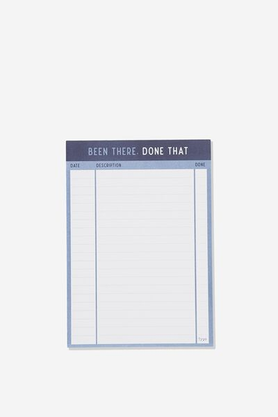 Medium Plan Ahead Planner, BEEN THERE DONE THAT NAVY