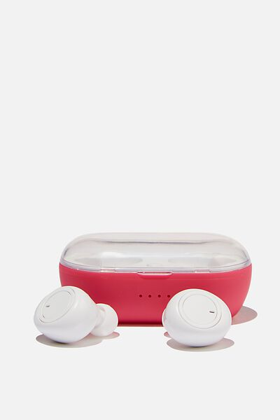 Wireless Earbuds, RASPBERRY
