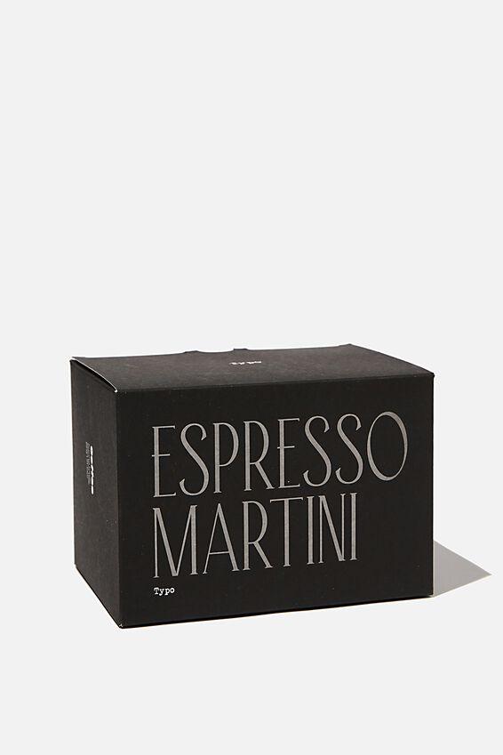 Large Block Candle, BLACK ESPRESSO MARTINI!