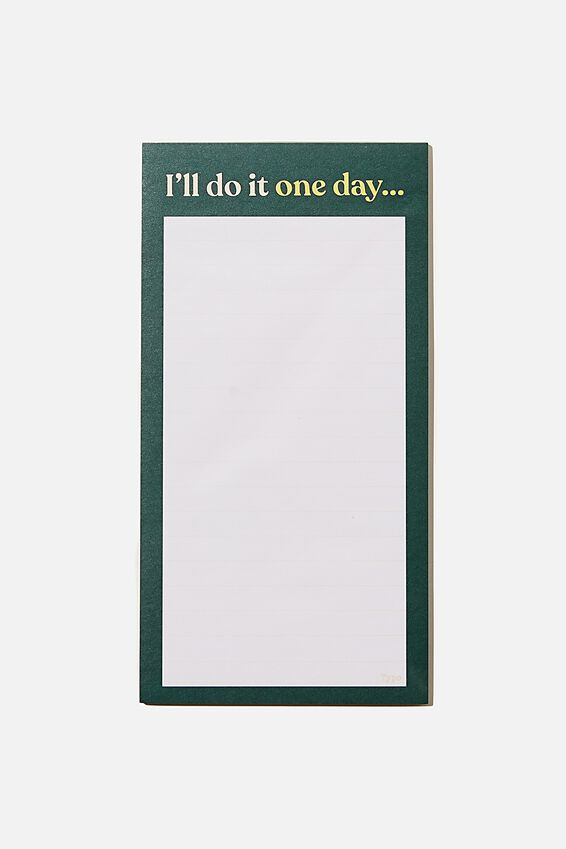 Make A List Note Pad, FOREST GREEN