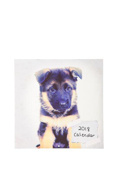2018 Square Calendar, PUPPIES!