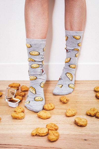 Mens Novelty Socks, SAUCEY NUGGETS