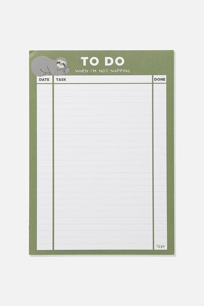 A4 Plan Ahead Planner, SLOTH TO DO