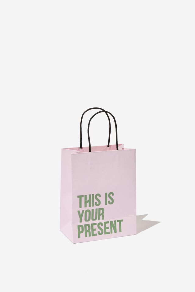 Get Stuffed Gift Bag - Small, THIS IS YOUR PRESENT PINK SALT GREEN