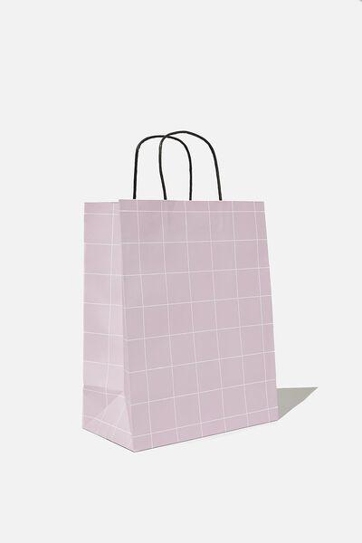 Get Stuffed Gift Bag - Medium, HEATHER GRID