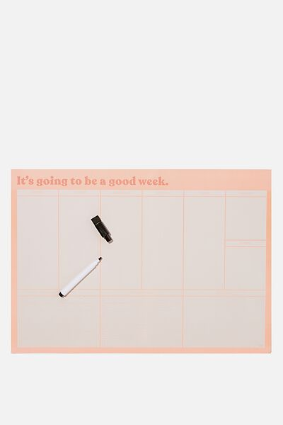 A3 Magnetic Planner, GOOD WEEK PEACH CANDY