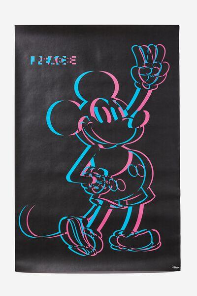Hang Out Poster, LCN DIS DIGI MICKEY PEACE HAND