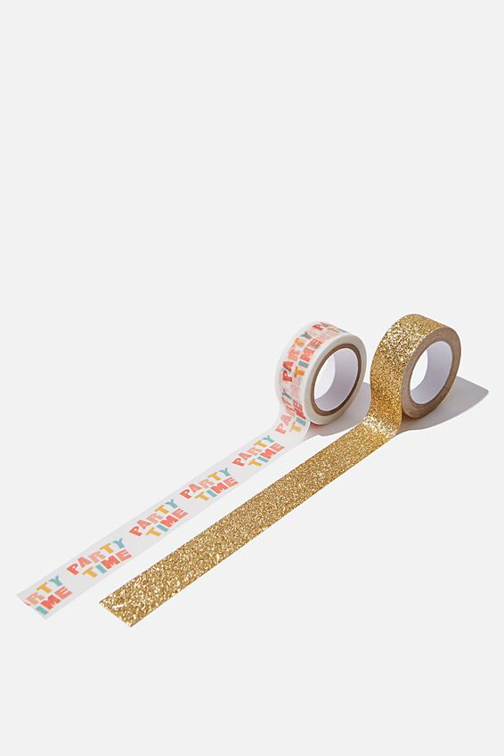Washi Tape 2Pk, PARTY TIME