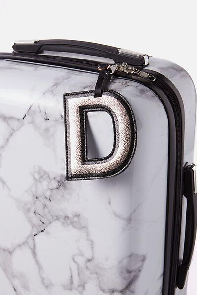 Shaped Alphabet Luggage Tag, D