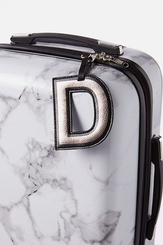 Shaped Alphabet Luggage Tag, D
