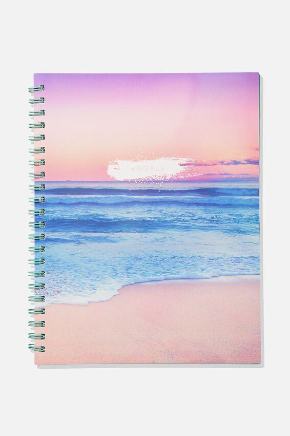 A4 Campus Notebook, GOALS SUNSET BEACH