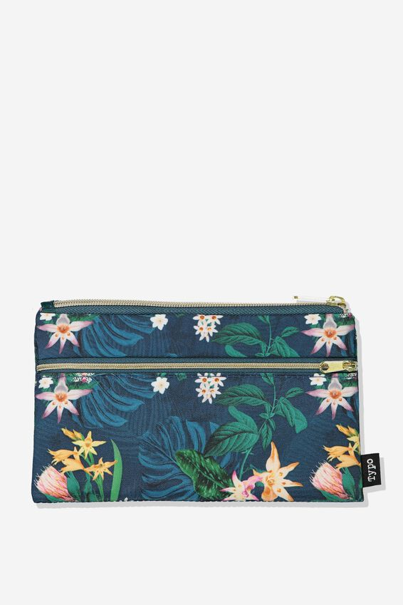 Archer Pencil Case, JUNGLE FLORAL