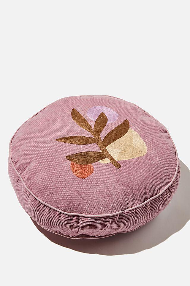 Corduroy Get Cushy Cushion, AMETHYST LEAVES