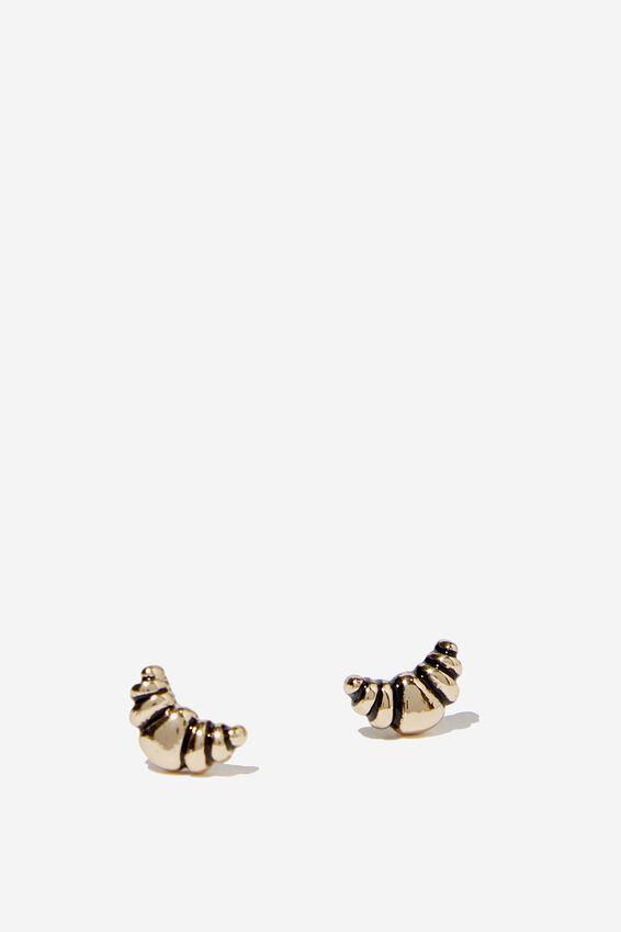 Novelty Earrings, CROISSANT