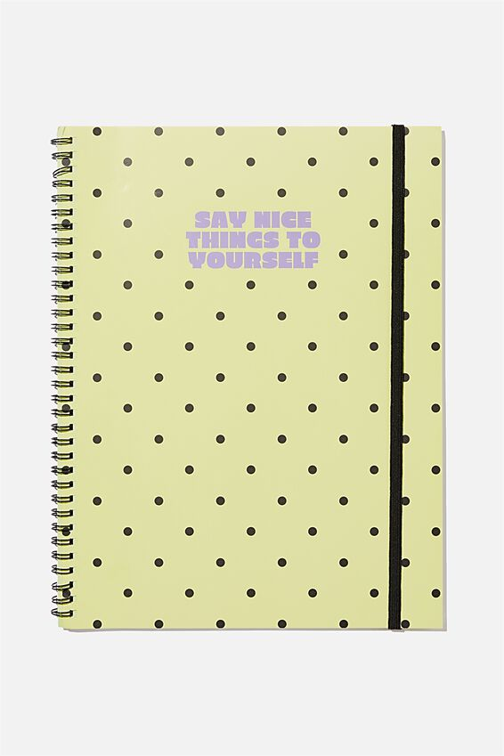 A4 Spinout Notebook Recycled, SAY NICE THINGS