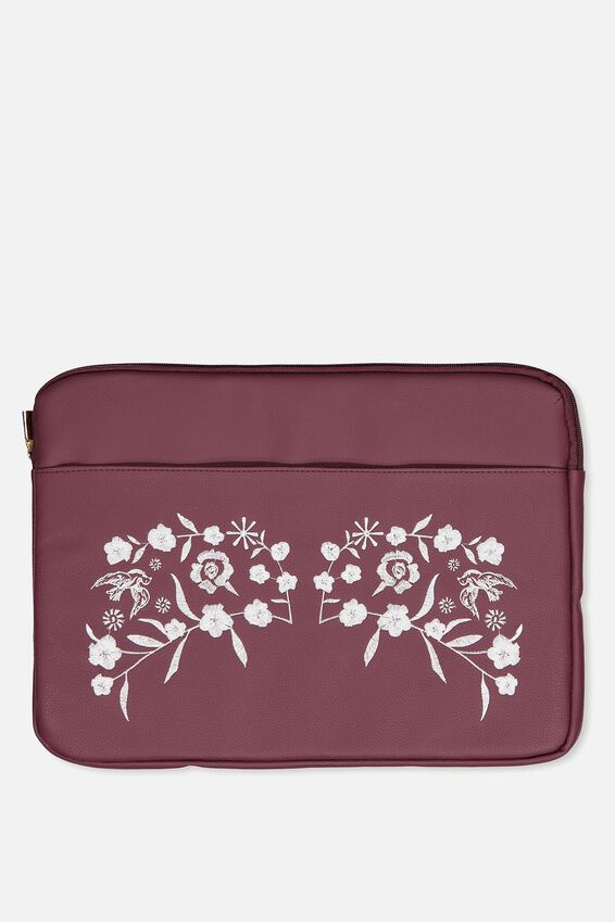 Take Charge 15 Inch Laptop Cover, BURGUNDY